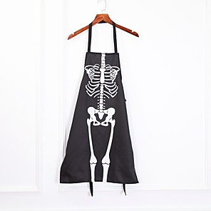 cheap Halloween Party Supplies-Kitchen Cosplay Horror Chef Halloween Skeleton Apron Costume Party Supplies Bar Dance Party Dress Up Ghost