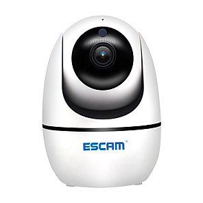 cheap Indoor IP Network Cameras-ESCAM PVR008 H.265 HD 1080P 2 mp Pan/Tilt PTZ CMOS WiFi Wireless IR IP Camera Support ONVIF Two Way Talk Night Vision Indoor Home Security Camera