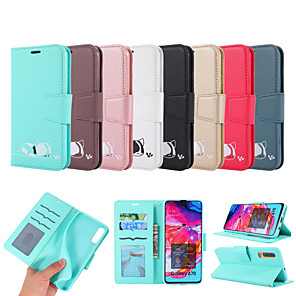 cheap Samsung Case-Case For Samsung Galaxy A6 (2018) / Galaxy A7(2018) / Galaxy A10(2019) Card Holder / with Stand / Flip Full Body Cases Animal PU Leather