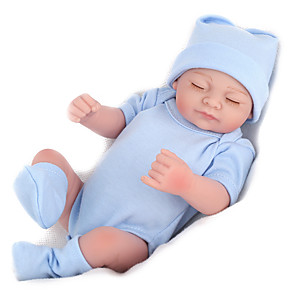 cheap Reborn Doll-NPK DOLL 10 inch Reborn Doll Reborn Toddler Doll Baby Boy Baby Girl Safety Gift Cute Full Body Silicone with Clothes and Accessories for Girls' Birthday and Festival Gifts / Kids