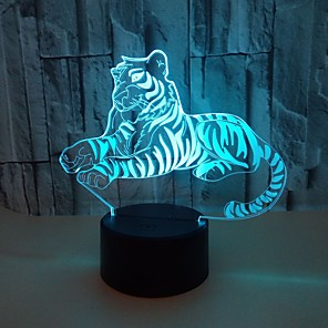 cheap 3D Night Lights-Voldemort 3D Night Lights Colorful Touch Tiger 3D LED Vision Lights