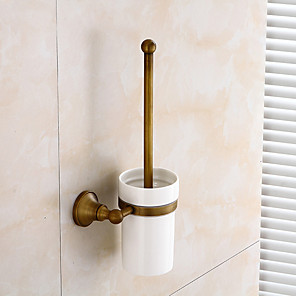 cheap Classical-Toilet Brush Holder Creative Antique / Traditional Brass / Ceramic Bathroom Wall Mounted