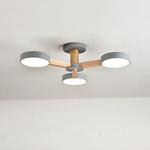 cheap Dimmable Ceiling Lights-3-Light 72 cm Flush Mount Lights Metal Wood / Bamboo Novelty Painted Finishes LED / Modern 110-120V / 220-240V