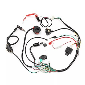 cheap Car DVD Players-Wiring Harness Loom Solenoid Coil Rectifier CDI 50cc 70cc 110cc 125cc ATV Quad Bike Go Kart