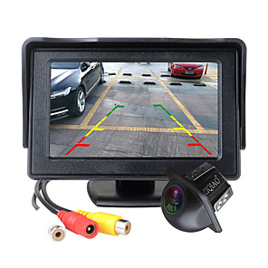 cheap Car Rear View Camera-ZIQIAO 4.3 Inch Foldable Car Monitor TFT LCD Display Cameras Reverse Camera Parking System for Car Rear View Monitors NTSC PAL