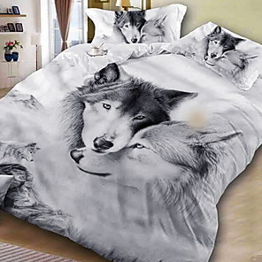 cheap Contemporary Duvet Covers-Duvet Cover Sets 3D Polyester / Polyamide Printed 3 PieceBedding Sets