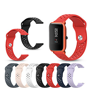 cheap Smartwatch Bands-Sport Silicone Watch Band Wrist Strap for Huami Amazfit Bip Youth / Amazfit GTR 42MM Bracelet Wristband Replaceable Accessories