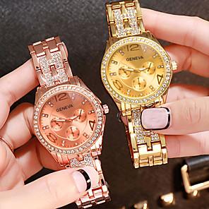 baratos Relógios de Pulseira-Mulheres Relógios de Quartzo Fashion Prata Dourada Ouro Rose Lega Quartzo Rosa Dourado Dourado Prata Relógio Casual Analógico