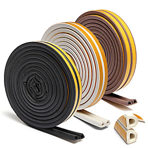 cheap Bathroom Gadgets-10m Self Adhesive D ype for Car Doors Windows Foam Seal Strip Soundproofing Collision Avoidance Rubber Seal Collision