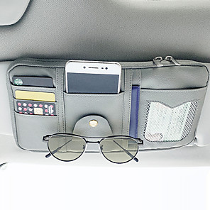 cheap Car Organizers-Car Organizers CD Case / Card Holder / Glasses Clips PU Leather / Nylon / Car Sun Visor Storage Bag
