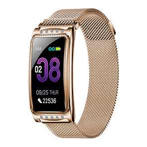 cheap Smartwatches-New F28 Fashion Women's Steel Belt Sports Bluetooth Smart Watch / Heart Rate And Blood Pressure Health Monitoring / Female Physiological Monitoring / Multiple Sports Modes / IP67 Waterproof