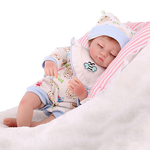 cheap Reborn Doll-NPK DOLL 22 inch Reborn Doll Reborn Toddler Doll Baby Boy Baby Girl Safety Gift Cute Cloth 3/4 Silicone Limbs and Cotton Filled Body with Clothes and Accessories for Girls' Birthday and Festival Gifts