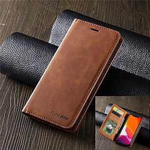 cheap Samsung Case-Forwenw Luxury Leather Case for Samsung Galaxy S10 S10E S10 Plus S10 5G Magnetic Flip Wallet Card Holder Book Cover S9 S9 Plus S8 S8 Plus S7 S7 Edge