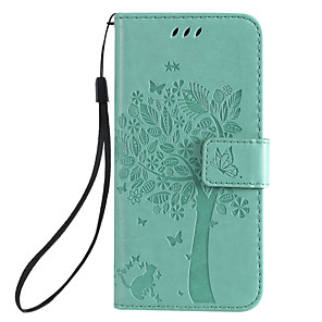 cheap iPhone Cases-Case For iPhone XR iPhone XS Max Phone Case PU Leather Material Embossed Cat and Tree Pattern Solid Color Phone Case for iPhone XS X 8 8 Plus 7 7 Plus 6S 6 Plus 6S 6 11 Pro Max 11 Pro 11