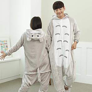 cheap Kigurumi Pajamas-Adults' Kigurumi Pajamas Totoro Onesie Pajamas Flannelette Gray Cosplay For Men and Women Animal Sleepwear Cartoon Festival / Holiday Costumes