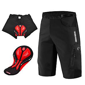 hesapli Bisiklet Pantolonlar,Şortlar,Taytlar-WOSAWE Erkek Pedli Bisiklet Şortları Bisiklet Şortları MTB Şortları Silikon Bisiklet Pedli Şortlar MTB Şortları Nefes Alabilir 3D Pet Hızlı Kuruma Spor Dalları Tek Renk Siyah / Mavi / Turuncu Da