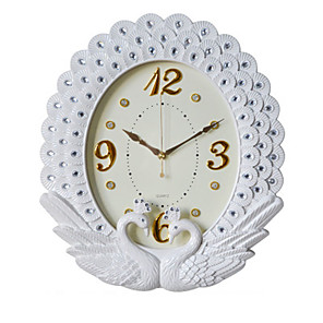 cheap Wall Clocks-Modern Contemporary / Wall Hanging Glasses / Plastic & Metal / Acrylic Round Garden Theme / Floral Theme Indoor AA Batteries Powered Decoration Wall Clock Digital Plastic No