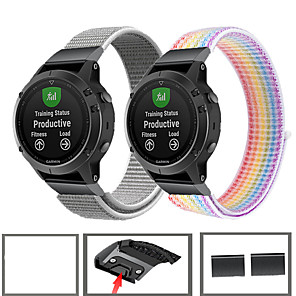 cheap Smartwatch Bands-Sport Nylon Watch Band Wrist Strap For Garmin Fenix 6 Pro / Fenix 5 Plus / Forerunner 935 / Approach S60 / Quatix 5 Quick Release Wristband