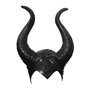 cheap Movie & TV Theme Costumes-Masquerade Headwear Inspired by Witch Maleficent Black Cosplay Halloween Halloween Carnival Masquerade Adults' Men's Women's / Hat / Hat