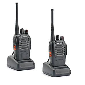 cheap Walkie Talkies-2PCS Walkie Talkie Baofeng BF-888S 16CH UHF 400-470MHz Baofeng 888S Ham Radio HF Transceiver Amador Portable Intercoms Super Sound Quality