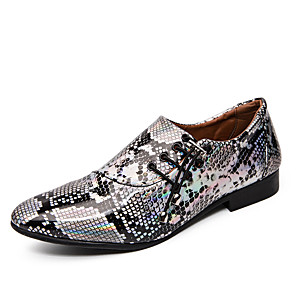 cheap Men's Oxfords-Men's Formal Shoes Microfiber Spring & Summer / Fall & Winter Business / Casual Oxfords Breathable Purple / Gold / Silver / Dress Shoes