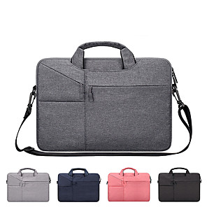 cheap Laptop Bags & Backpacks-13.3 Inch Laptop / 14 Inch Laptop / 15.6 Inch Laptop Shoulder Messenger Bag / Briefcase Handbags Canvas Solid Color Unisex Water Proof Shock Proof