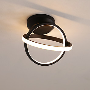 cheap Pendant Lights-2-Light Circular LED ceiling light creative ceiling light circle intersection children's room lights