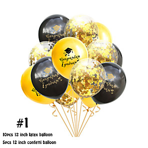 cheap Wedding Decorations-Balloon Emulsion 15 Graduation