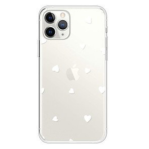 cheap iPhone Cases-Case For Apple iPhone 11 / iPhone 11 Pro / iPhone 11 Pro Max Ultra-thin / Transparent / Pattern Back Cover Heart TPU