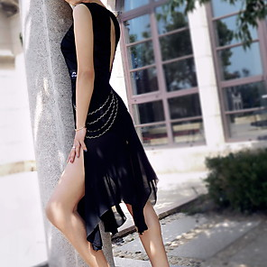 cheap Latin Dancewear-Latin Dance Leotard / Onesie Ruching Women's Performance Polyester