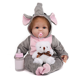cheap Reborn Doll-NPK DOLL 20 inch Reborn Doll Reborn Toddler Doll Baby Boy Baby Girl Safety Gift Cute Cloth 3/4 Silicone Limbs and Cotton Filled Body with Clothes and Accessories for Girls' Birthday and Festival Gifts