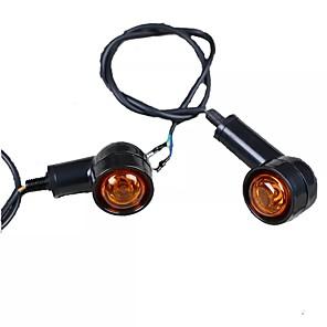 cheap Car DVR-2PCS Retro Motorcycle Flasher Black Front Rear Blinker Motor Indicator Turn Lights