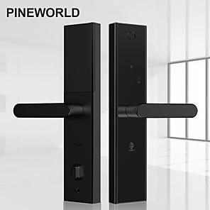 cheap Door Locks-PINEWORLD L5 Security Intelligent Biometric Fingerprint Lock With WiFi Password RFID Bluetooth APP Remote Unlock