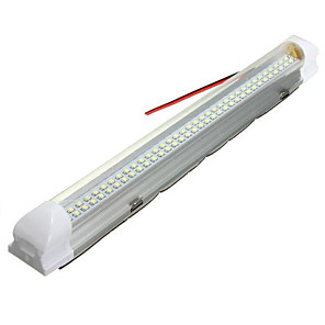 cheap Car Decoration Lights-1pcs Universal Interior 34cm LED Light Strip Lamp White with ON/OFF Switch 1Pcs for Car Auto Caravan Bus