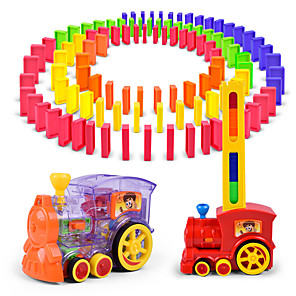 cheap Toy Cars-Domino Train Toy Trains & Train Sets Dominoes Set Farm Vehicle Tower Strange Toys Plastic Shell Infant Toy Gift 1 pcs