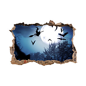 cheap Wall Stickers-3D Halloween Wall Stickers Decorative Wall Stickers, PVC Home Decoration Wall Decal Wall Decoration / Removable
