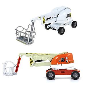 cheap Toy Trucks & Construction Vehicles-KDW 1:87 Plastic ABS Cherry Picker Toy Truck Construction Vehicle Toy Car Retractable Simulation Machine Truck Boys' Kid's Car Toys