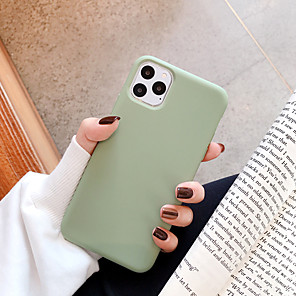 cheap iPhone Cases-Case For Apple iPhone 11 / iPhone 11 Pro / iPhone 11 Pro Max Shockproof Back Cover Solid Colored TPU