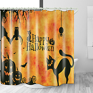 cheap Shower Curtains-Shower Curtains & Hooks Modern Polyester Premium Design
