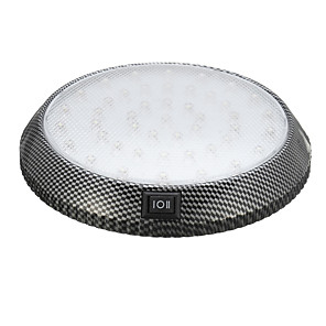 cheap LED Cabinet Lights-1pcs Round Car LED Interior Roof Lights Ceiling Dome Door Indication Reading Lamp 12V 13cm