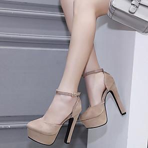 cheap Women's Heels-Women's Heels Stiletto Heel Pointed Toe Suede Summer Black / Almond / Daily