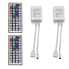 cheap LED Strip Lights-2pcs 12 V / 5 V / USB Powered WiFi / Remote Controlled / Strip Light Accessory Plastic Controller for RGB LED Strip Light / for LED Strip light