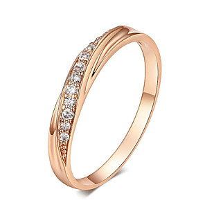 cheap Rings-Cubic Zirconia Wedding Rings Silver/Rose Gold Color Wedding Ring Jewelry Wholesale