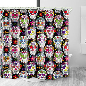 cheap Shower Curtains-Shower Curtains & Hooks Modern Polyester Machine Made Waterproof Bathroom