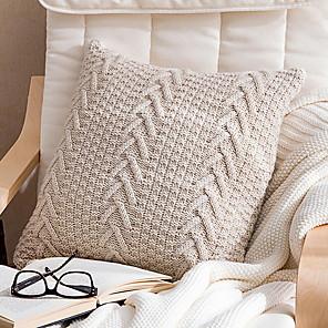 cheap Throw Pillow Covers-Set of 1 Cotton / Linen Pillow Cover, Solid Colored Throw Pillow