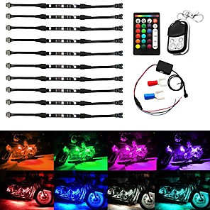 cheap Neon LED Lights-10pcs Wireless RGB IR/RF Multi-Color LED Light Strips Remote Control Neon Atmosphere Lamp