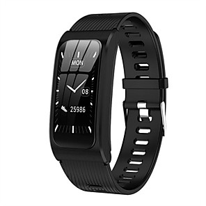 cheap Smart Wristbands-Women's Smartwatch Digital Modern Style Sporty Silicone 30 m Water Resistant / Waterproof Heart Rate Monitor Bluetooth Digital Casual Outdoor - Black Gold Silver