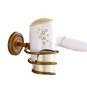 cheap Faucet Accessories-Hair Dryers Creative Antique / Traditional Brass Bathroom Wall Mounted