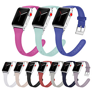 cheap Smartwatch Bands-Silicone Watch Band Wrist Strap For Apple Watch Series 5/4/3/2/1 Replaceable Bracelet Wristband 38/40mm 42/44mm