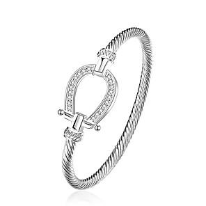 cheap Bracelets-Women's Bracelet Classic Mini Fashion Silver-Plated Bracelet Jewelry Silver For Daily